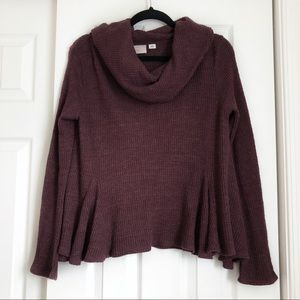 Anthropologie Cowl Neck Sweater in Plum